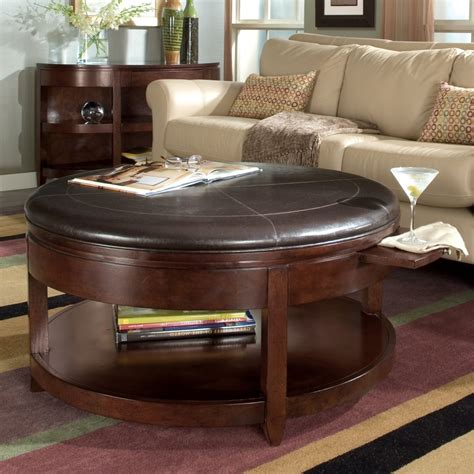 round tufted ottoman coffee table round tufted leather ottoman coffee table brown round