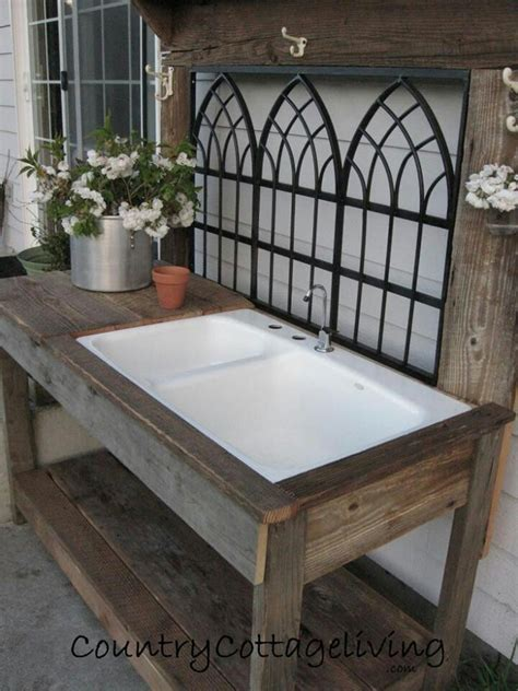 outdoor potting bench with sink potting bench with sink garden plants pinterest