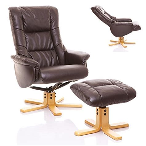 Recliner Chair And Footstool Uk by The Shanghai Bonded Leather Recliner Swivel Chair
