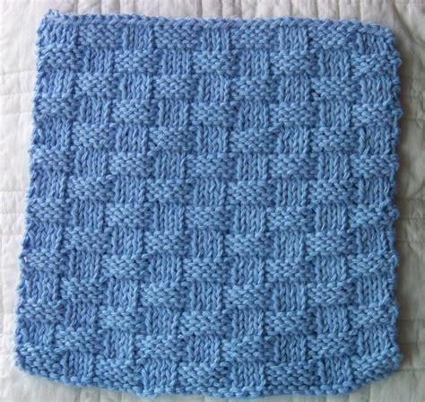 basket pattern knitting kitchen dishcloth basket weave by laws of knitting craftsy