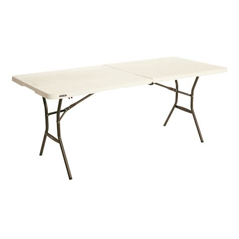 Lifetime 6ft Folding Table Lifetime 6ft Bi Fold Mould Trestle Table Ebay