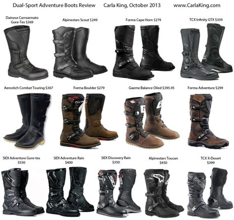 best sport motorcycle boots dual sport adventure touring motorcycle boot review