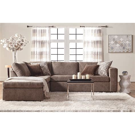 contemporary sectionals with chaise serta upholstery angora casual contemporary sectional sofa
