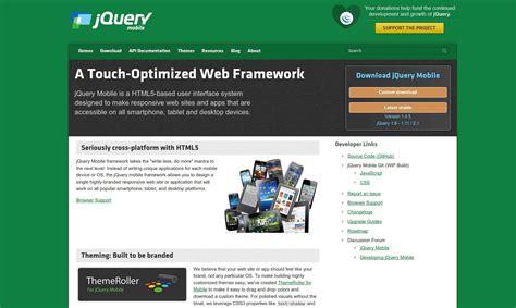 jquery mobile builder comparing the top frameworks for building hybrid mobile