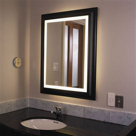 bathroom mirrors with lights attached rectangular bathroom