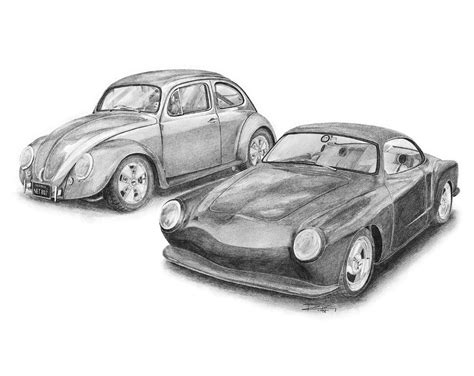 volkswagen bug drawing vw beetle classic drawing www pixshark com images