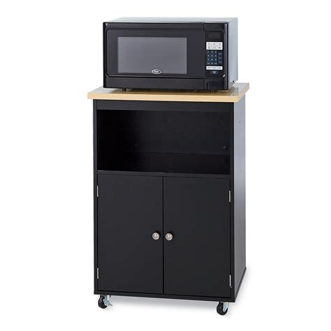 essential home morgan microwave cart