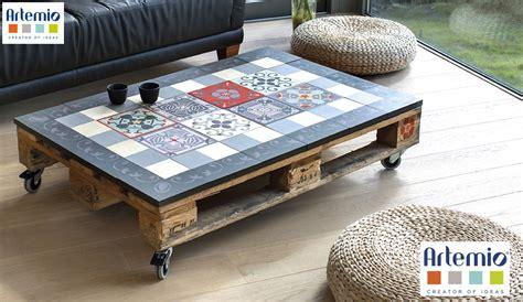 table carrelage table basse palette et carrelage ezooq