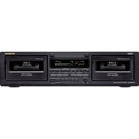 cassette recorders onkyo ta rw255 dual cassette recorder player ta rw255 b h