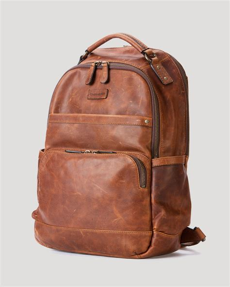 leather backpack frye logan leather backpack in brown for cognac lyst