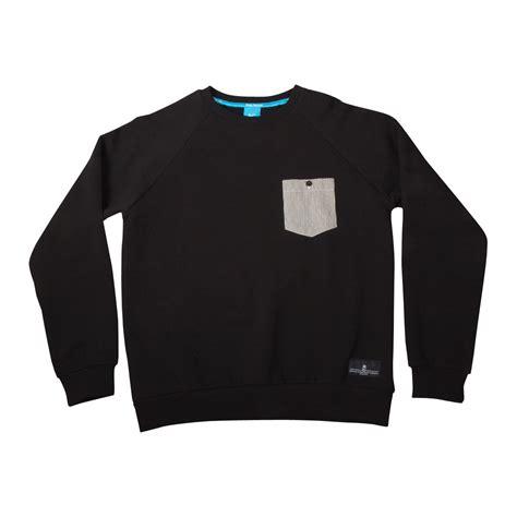 Pin Pocket by King Gold Seal Pinstripe Pocket Sweatshirt Crew Neck