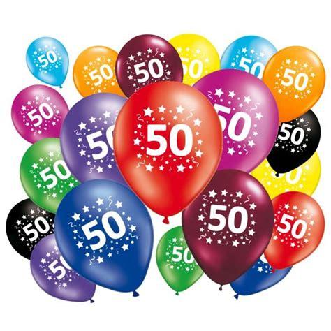 Decoration Anniversaire 50 Ans Homme by 20 Ballons Anniversaire 50 Ans Achat Vente Ballon
