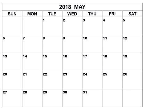 printable calendar for may 2018 may 2018 calendar pdf printable