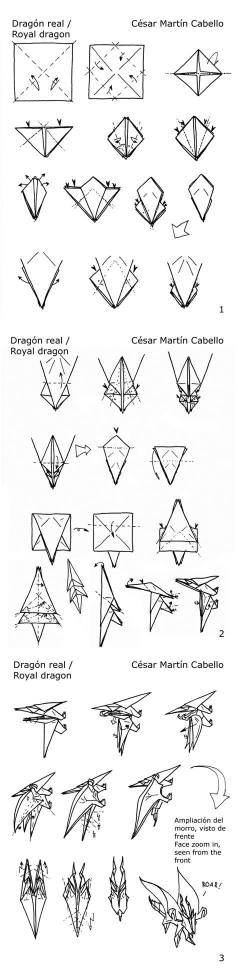 Origami Dragonfly Diagram - origami royal diagrams by pepius on deviantart