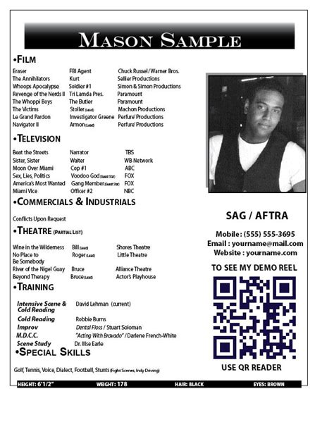 free headshot template resume sles harlequinn productions