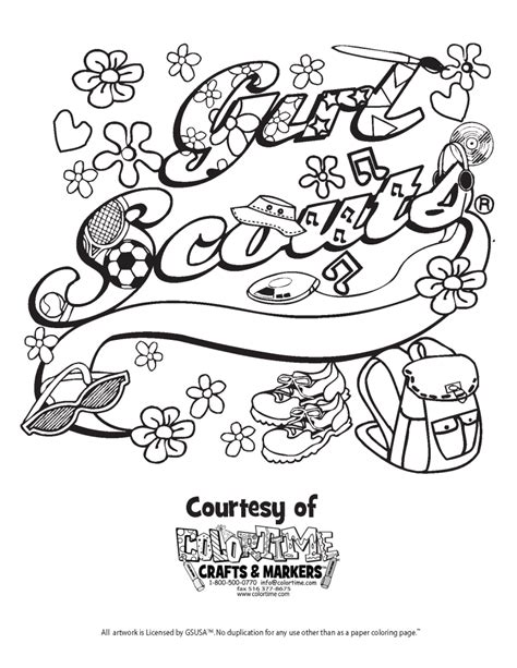 Girl Scout Coloring Pages Coloring Home Scouts Coloring Pages Free