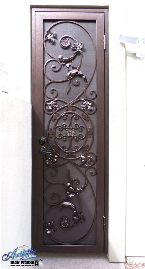 Decorative Security Doors by Decorative Wrought Iron Security Door Wrought Iron