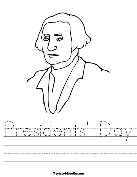 presidents day coloring pages for kindergarten search results for president washington worksheet