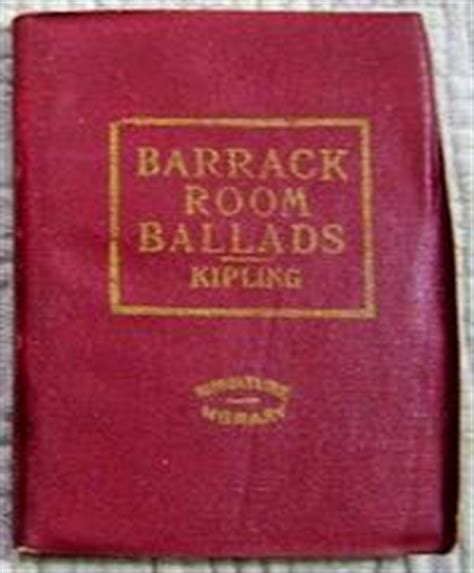 barrack room ballads barrack room ballads leather library miniature library edition by kipling