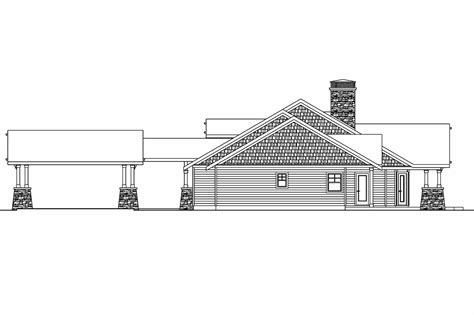 house plan with detached garage craftsman house plans arborgate 30 654 associated designs