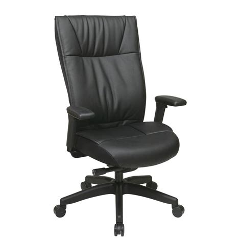 Space Office Chair by Space Seating Black Leather Executive Office Chair 9370