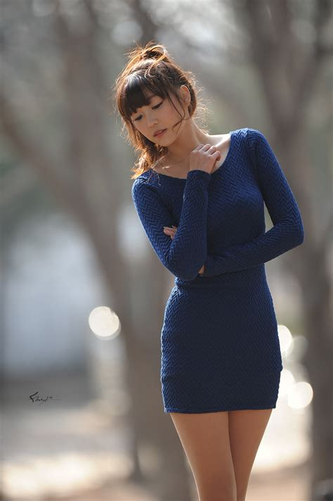 cute asian girl lee eun hye  blue