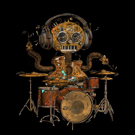 design by humans reddit music robot drum shirt by design by humans on deviantart