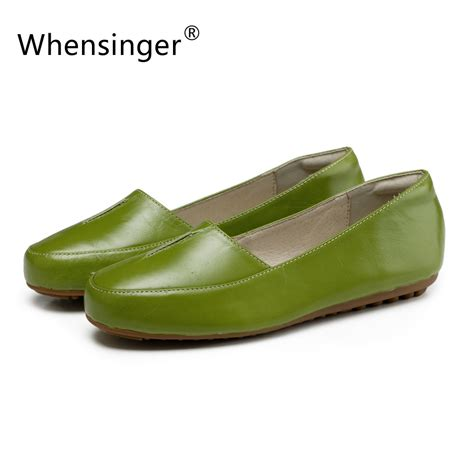 Whensinger 2017 Leather Shoes Handmade - genuine leather shoes flats fashion 28 images 2015 new