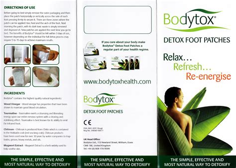 Detox Foot Patches Benefits In by Sceptical Letter Writer Bodytox Detox In A Box