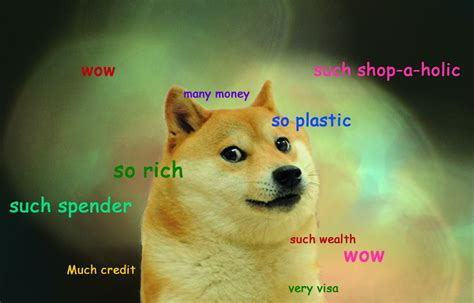doge credit card template doge pic on the hunt