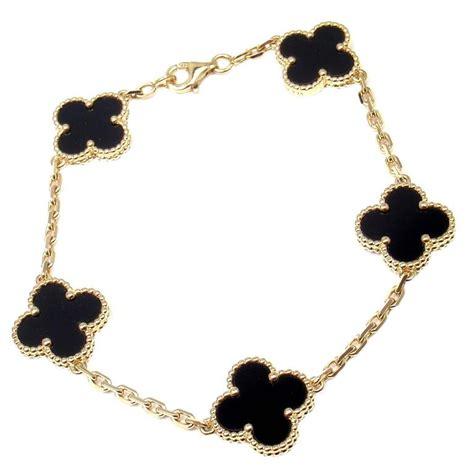 van cleef and arpels black onyx gold 5 motif vintage