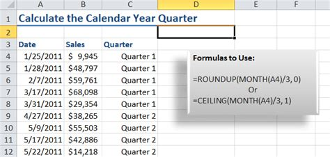 format date as quarter in excel tips to calculate quarter value using excel formula