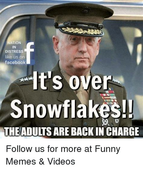 Funny Memes For Adults - nation distress like us on facebook it s over snowflakes