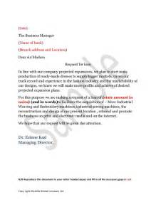 Loan Request Letter by Sle Loan Application Letter
