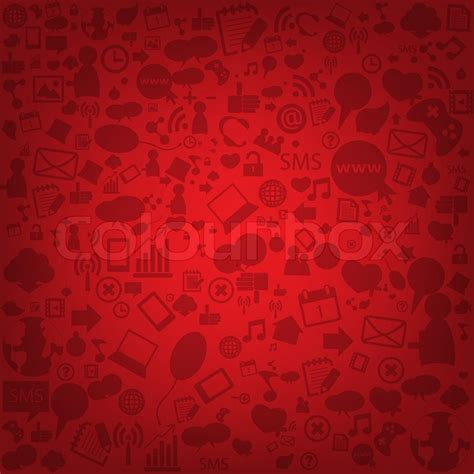 media background social network background with media icons vector