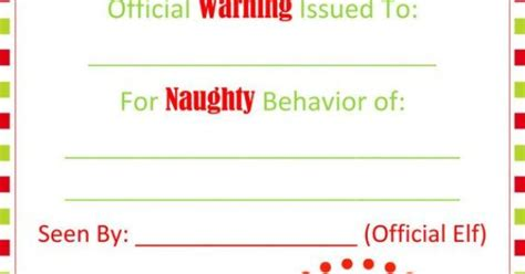 elf on the shelf warning letter from santa printable naughty warning letter from santa pdf elf by