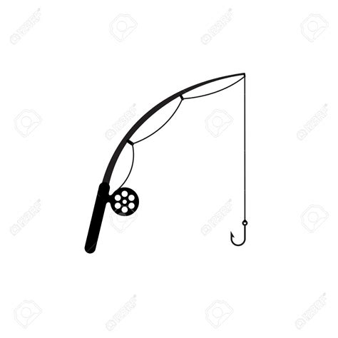 rod clipart fishing rod clipart silhouette pencil and in color