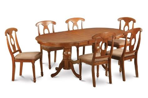 8 pc hamlyn rectangular double pedestal table dining room 7pc oval dining set table 42 x78 and 6 cushioned chairs in