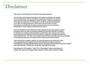 disclaimer template letter copy of investment the bophut building boutique hotel