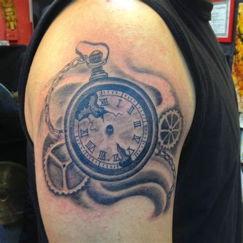 broken pocket watch tattoo the gallery for gt broken