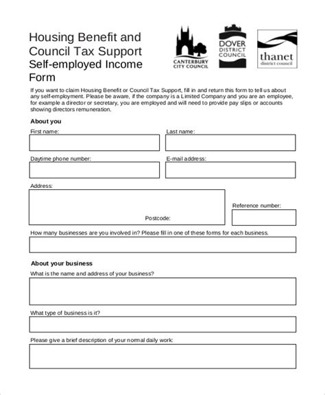 housing benefit form community housing application