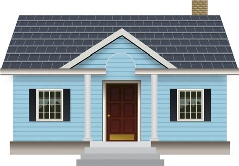 house template for adobe illustrator small blue house free vector in adobe illustrator ai ai