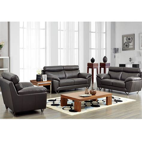 Modern Leather Living Room Set | 8049 modern leather living room sofa set by noci design