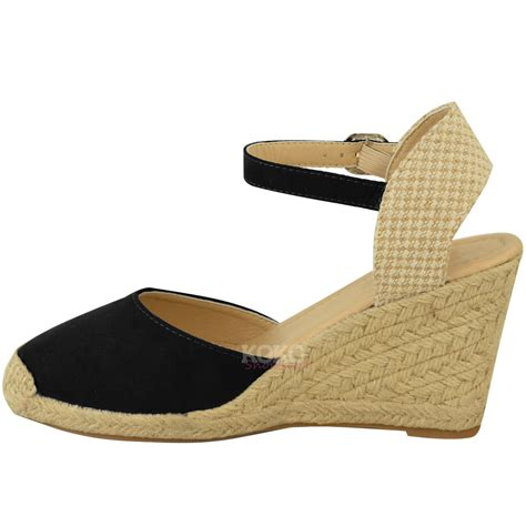 new womens summer espadrilles strappy low wedges