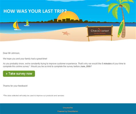 customer survey email template sending out a better survey email invitation 5 best practices