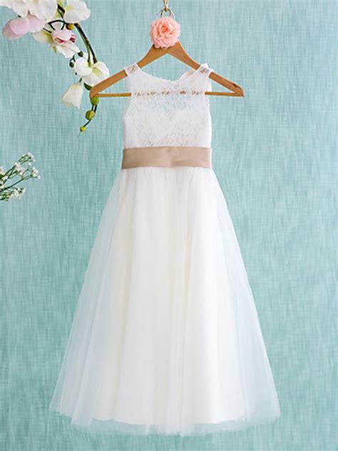white simple flower girl dresses cute long cheap flower