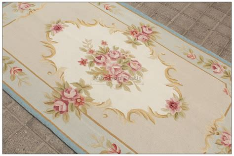 Chic Area Rugs 3x5 Pastel Blue Ivory Aubusson Area Rug Shabby Pink Chic Wool Carpet Ebay