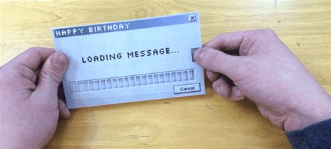 how to make greeting cards on the computer birthday card gif find on giphy