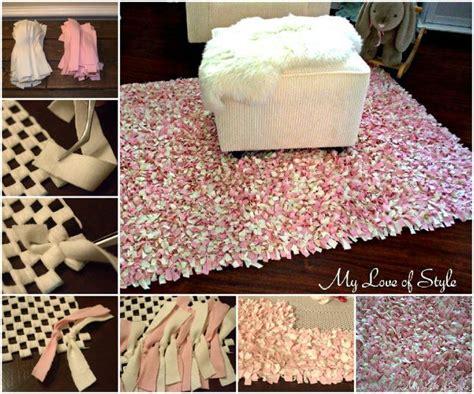 diy shag rag rug crafts