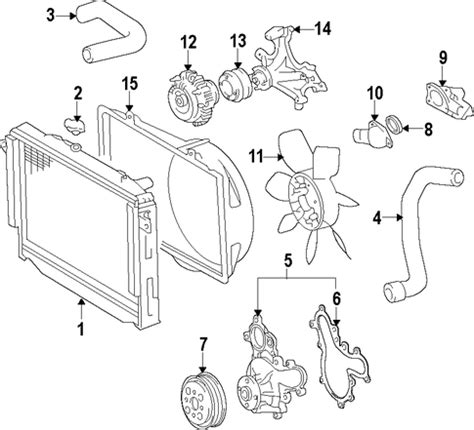 2007 toyota tundra parts diagram genuine oem water parts for 2007 toyota tundra sr5